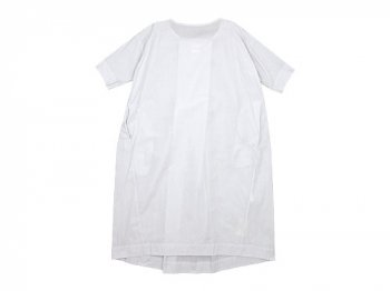 TOUJOURS Boat Neck Wrap Back Shirt Dress SMOKE WHITE