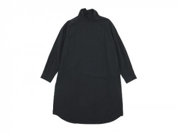 TOUJOURS High Neck Big Shirt Dress NAVY BLACK 【TM28SD03】