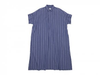 TOUJOURS Short Sleeve Wide Shirt Dress WIDE STRIPE