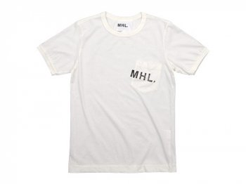 MHL. PRINTED JERSEY LOGO T 030OFF WHITE〔メンズ〕