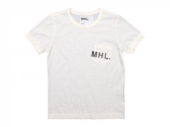 MHL. PRINTED JERSEY LOGO T 030OFF WHITE 〔レディース〕