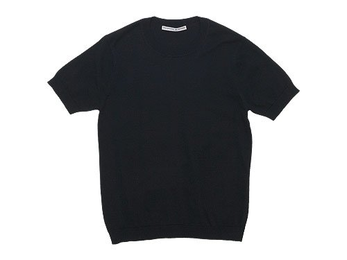 Charpentier de Vaisseau Kyle Cotton Knit Short Sleeve BLACK