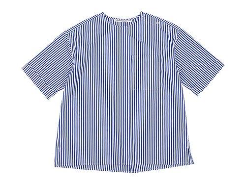 Charpentier de Vaisseau Sophie Shoulder Button Short Sleeve Shirts NAVY STRIPE