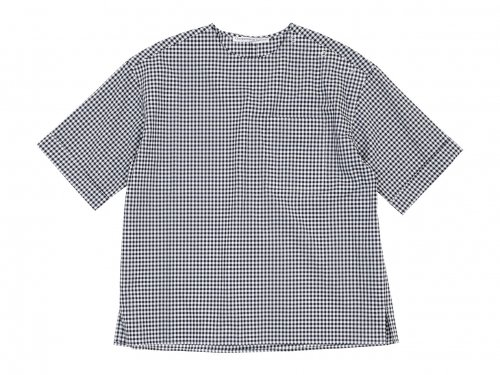 Charpentier de Vaisseau Sophie Shoulder Button Short Sleeve Shirts BLACK CHECK