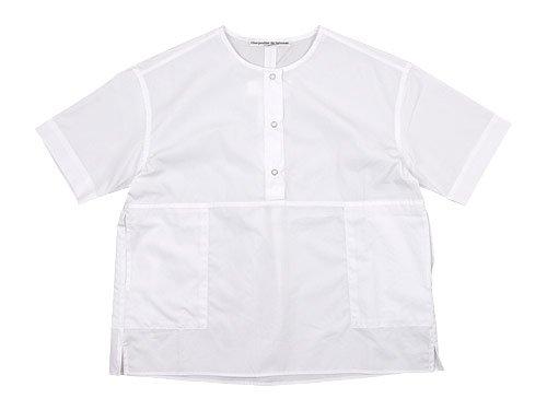 Charpentier de Vaisseau Selma Front Button Short Sleeve Shirts WHITE