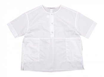 Charpentier de Vaisseau Selma Front Button Short Sleeve Shirts WHITE