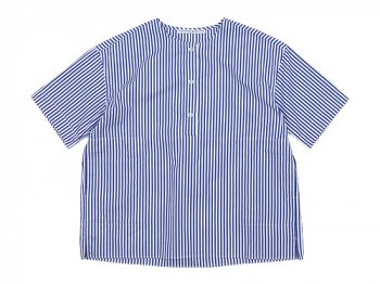 Charpentier de Vaisseau Selma Front Button Short Sleeve Shirts NAVY STRIPE