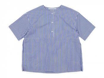 Charpentier de Vaisseau Selma Front Button Short Sleeve Shirts NAVY STRIPE