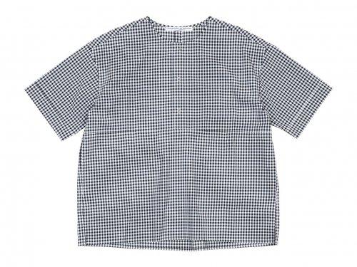 Charpentier de Vaisseau Selma Front Button Short Sleeve Shirts BLACK CHECK