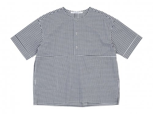 Charpentier de Vaisseau Selma Front Button Short Sleeve Shirts BLACK CHECK