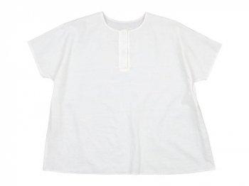 Lin francais d'antan Schiele(シーレ) Short Sleeve Blouse WHITE