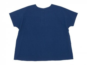 Lin francais d'antan Schiele(シーレ) Short Sleeve Blouse NAVY