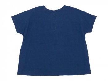 Lin francais d'antan Schiele Short Sleeve Blouse NAVY