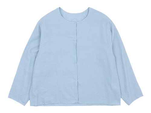 Lin francais d'antan Quellier No Collar Shirts LIGHT BLUE
