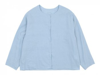 Lin francais d'antan Quellier(ケリエ) No Collar Shirts LIGHT BLUE