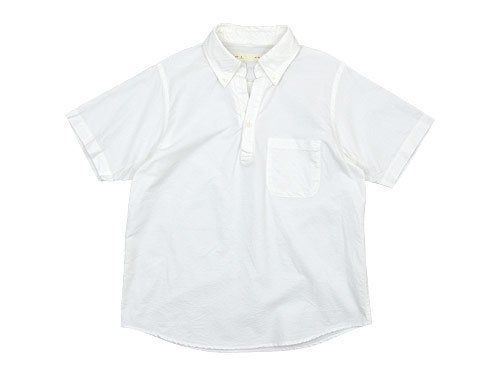nisica 半袖プルオーバーシャツ オックス WHITE