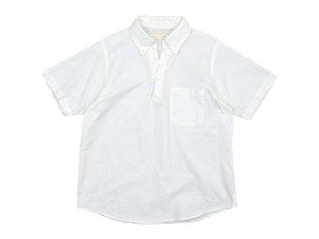 nisica プルオーバーシャツ 半袖 オックス WHITE