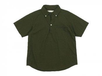 nisica プルオーバーシャツ 半袖 オックス OLIVE