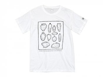 ENDS and MEANS Choose Print Tee WHITE