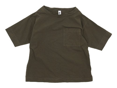 MHL. PAPER COTTON T-SHIRTS 182OLIVE DRAB 〔レディース〕