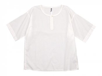 MHL. COTTON SLUB POPLIN T-SHIRTS 030WHITE 〔レディース〕