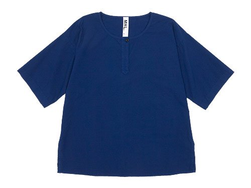 MHL. COTTON SLUB POPLIN T-SHIRTS 110BLUE 〔レディース〕
