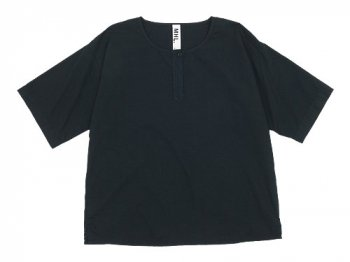 MHL. COTTON SLUB POPLIN T-SHIRTS 010BLACK 〔レディース〕
