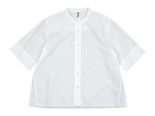 MHL. COTTON RAMIE POPLIN S/S SHIRTS 030WHITE 〔レディース〕