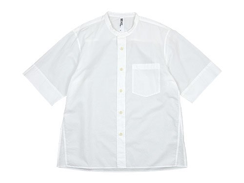 MHL. COTTON RAMIE POPLIN S/S SHIRTS 030WHITE 〔メンズ〕