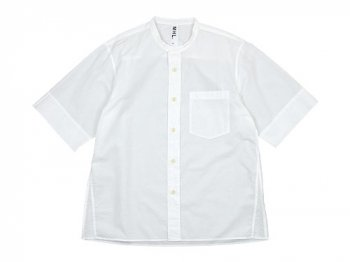 MHL. COTTON RAMIE POPLIN S/S SHIRTS 030WHITE 〔メンズ〕 【5968150516】