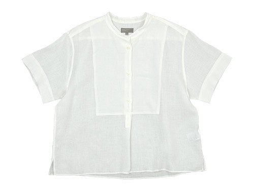 MARGARET HOWELL SOFT LINEN S/S SHIRTS 030WHITE 〔レディース〕