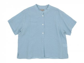 MARGARET HOWELL SOFT LINEN S/S SHIRTS 116BLUE 〔レディース〕