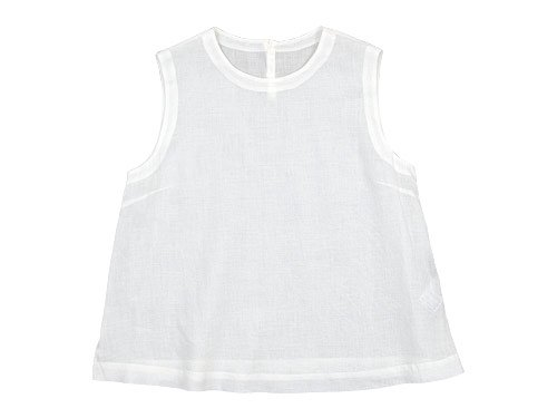 MARGARET HOWELL SOFT LINEN NO SLEEVE 030WHITE 〔レディース〕
