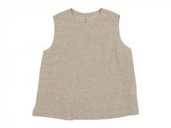 MARGARET HOWELL SOFT LINEN NO SLEEVE 042BEIGE 〔レディース〕