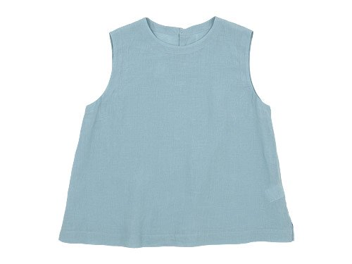 MARGARET HOWELL SOFT LINEN NO SLEEVE 116BLUE 〔レディース〕