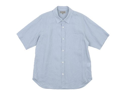 MARGARET HOWELL SHIRTING LINEN S/S SHIRTS 110LIGHT BLUE 〔メンズ〕