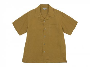 MARGARET HOWELL SHIRTING LINEN OPEN SHIRTS 051MUSTARD 〔メンズ〕