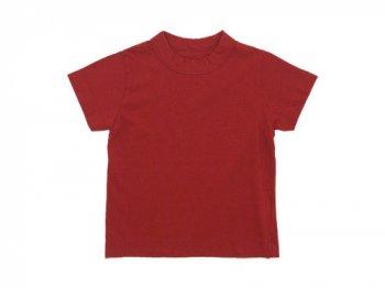 【Kid's】 homspun 30/1天竺 半袖Tシャツ レッド