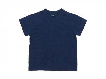 【Kid's】 homspun 30/1天竺 半袖Tシャツ TOPネイビー