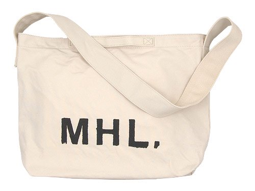 MHL. HEAVY CANVAS SHOULDER BAG 031OFF WHITE