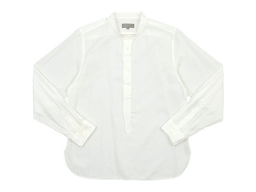MARGARET HOWELL SOFT COTTON TWILL P/O SHIRTS 030WHITE〔レディース〕