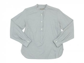 MARGARET HOWELL SOFT COTTON TWILL P/O SHIRTS 021GRAY〔レディース〕