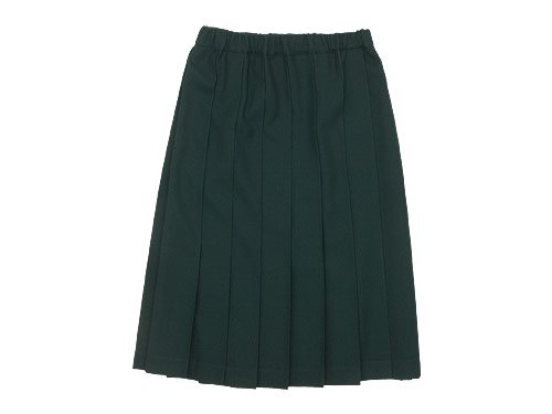 Charpentier de Vaisseau Belle Pleated Skirt Wool GREEN