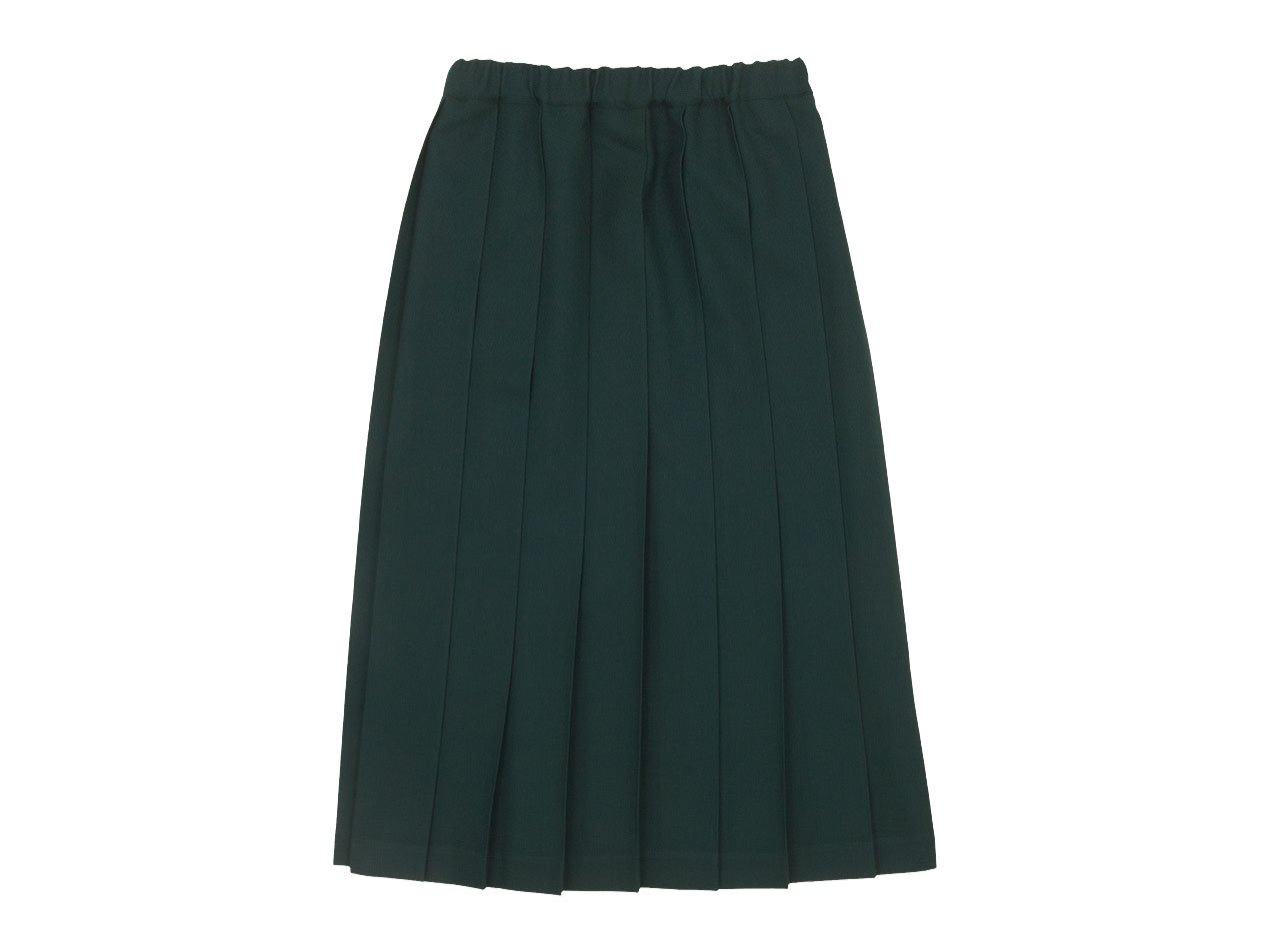 Charpentier de Vaisseau Brisa Pleated Skirt Long Wool GREEN