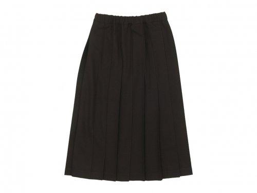 Charpentier de Vaisseau Brisa Pleated Skirt Long Wool