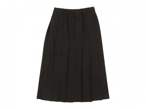 Charpentier de Vaisseau Brisa Pleated Skirt Long Wool BROWN