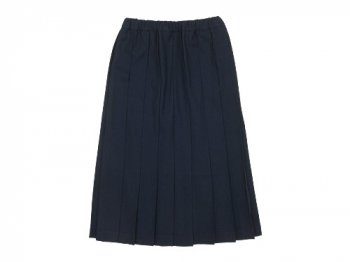 Charpentier de Vaisseau Brisa Pleated Skirt Long Wool NAVY