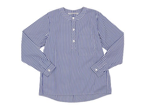 Charpentier de Vaisseau Sally Henry Neck Shirts NAVY STRIPE