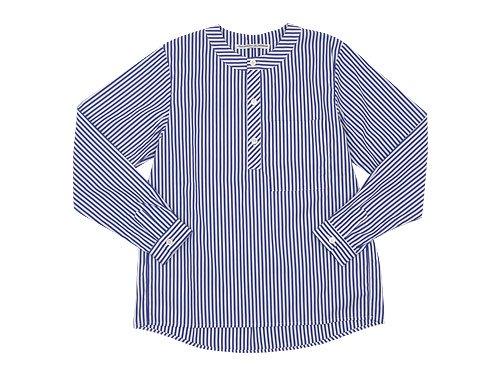 Charpentier de Vaisseau Sally Henry Neck Shirts NAVY STRIPE