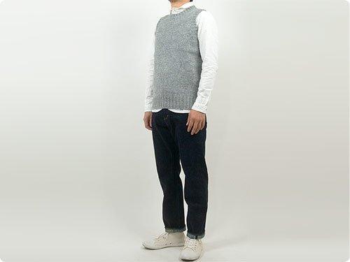 Charpentier de Vaisseau Kurson 3G Crew Neck Knit Vest GRAY
